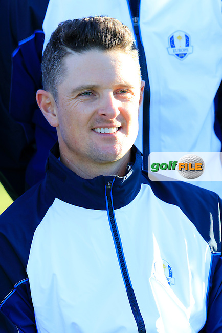 Justin Rose (ENG) European Team photo shoot during Tuesday's Practice Day of the 41st Ryder Cup held at Hazeltine National Golf Club, Chaska, Minnesota, USA. 27th September 2016.<br /> Picture: Eoin Clarke | Golffile<br /> <br /> <br /> All photos usage must carry mandatory copyright credit (&copy; Golffile | Eoin Clarke)