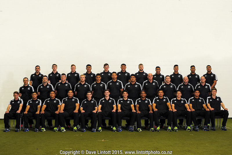 The 2015 New Zealand Schools rugby union team photo at NZ Sports Institute, Palmerston North, New Zealand on Friday, 18 September 2015. Photo: Dave Lintott / lintottphoto.co.nz