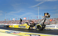 Jun. 3, 2012; Englishtown, NJ, USA: NHRA top fuel dragster driver Spencer Massey during the Supernationals at Raceway Park. Mandatory Credit: Mark J. Rebilas-