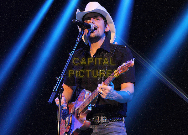 LONDON, ENGLAND - MARCH 16: Brad Paisley at C2C, Country to Country - Day Two -  at the O2 Arena, London on March 16, 2014 in London, England.<br /> CAP/ROS<br /> &copy;Steve Ross/Capital Pictures