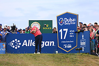 Jon Rahm (ESP) tees off the 17th tee during Sunday's Final Round of the Dubai Duty Free Irish Open 2019, held at Lahinch Golf Club, Lahinch, Ireland. 7th July 2019.<br /> Picture: Eoin Clarke | Golffile<br /> <br /> <br /> All photos usage must carry mandatory copyright credit (© Golffile | Eoin Clarke)