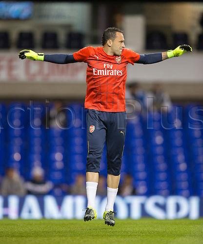 23.09.2015. London, England. Capital One Cup. Tottenham Hotspur versus Arsenal. Arsenal's David Ospina.