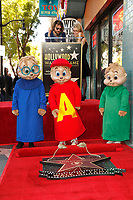LOS ANGELES - MAR 14: Alvin & The Chipmunks Celebrate 60th Anniversary With Star On The Hollywood Walk Of Fame on March 14, 2019 in Hollywood, Los Angeles, CA