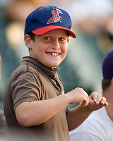 Chicken Dance 4051.jpg.  PCL baseball featuring the Tacoma Rainers at Round Rock Express at Dell Diamond on August 5th 2009 in Round Rock, Texas. Photo by Andrew Woolley.