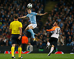 John Stones of Manchester City rises high to clear the ball during the Champions League Group F match at the Emirates Stadium, Manchester. Picture date: September 26th 2017. Picture credit should read: Andrew Yates/Sportimage