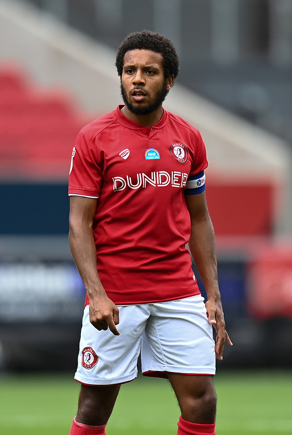 Bristol City's Korey Smith<br /> <br /> Photographer David Horton/CameraSport<br /> <br /> The EFL Sky Bet Championship - Bristol City v Sheffield Wednesday - Sunday 28th June 2020 - Ashton Gate Stadium - Bristol <br /> <br /> World Copyright © 2020 CameraSport. All rights reserved. 43 Linden Ave. Countesthorpe. Leicester. England. LE8 5PG - Tel: +44 (0) 116 277 4147 - admin@camerasport.com - www.camerasport.com