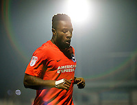 Brighton's Kazenga Lua Lua seen during the The Checkatrade Trophy match between AFC Wimbledon and Brighton & Hove Albion Under 21s at the Cherry Red Records Stadium, Kingston, England on 6 December 2016. Photo by Carlton Myrie / PRiME Media Images