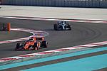 03.12.2019, Yas Marina Circuit, Abu Dhabi, Formel 1 Testfahrten Abu Dhabi 2019<br />, im Bild<br />Sebastian Vettel (GER#5), Scuderia Ferrari Mission Winnow, Valtteri Bottas (FIN#77), Mercedes-AMG Petronas Motorsport<br /> <br /> Foto © nordphoto / Bratic