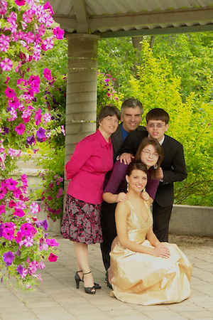 Graduation pictures with family
