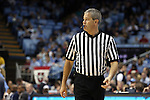 31 December 2013: Referee Tim Nestor. The University of North Carolina Tar Heels played the UNC Wilmington Seahawks at the Dean E. Smith Center in Chapel Hill, North Carolina in a 2013-14 NCAA Division I Men's Basketball game. UNC won the game 84-51.