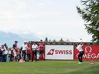 Tommy Fleetwood (ENG) in action on the on the 2nd hole during final round at the Omega European Masters, Golf Club Crans-sur-Sierre, Crans-Montana, Valais, Switzerland. 01/09/19.<br /> Picture Stefano DiMaria / Golffile.ie<br /> <br /> All photo usage must carry mandatory copyright credit (© Golffile | Stefano DiMaria)
