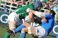 Sergio Parisse (Italia) Sean O'Brian (Irlanda)<br /> Italia vs Irlanda 11-13<br /> Six Nations Rugby<br /> Stadio Flaminio, Roma, 05/02/2011<br /> Photo Antonietta Baldassarre Insidefoto