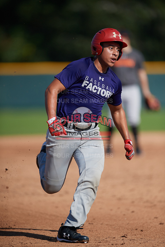 Kyle Figueroa (58), from Ft. Hood, Texas, while playing for the Rockies during the Baseball Factory Pirate City Christmas Camp & Tournament on December 28, 2017 at Pirate City in Bradenton, Florida.  (Mike Janes/Four Seam Images)