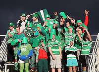 The Manawatu bucketheads during the Air NZ Cup rugby match between Manawatu Turbos and Counties-Manukau Steelers at FMG Stadium, Palmerston North, New Zealand on Sunday, 2 August 2009. Photo: Dave Lintott / lintottphoto.co.nz