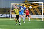 2015-10-25 / Voetbal / Seizoen 2015-2016 / Berchem-Grimbergen / Matti Van Minnebruggen (l. Berchem) met Tail Schoonjans<br /><br />Foto: Mpics.be