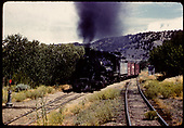 D&amp;RGW #490 K-37 hauling freight - Monarch.<br /> D&amp;RGW  Monarch Branch, CO