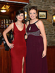 Katie Barrett and Caoimhe Gilmore pictured at the Ardee Traders Annual Awards dinner at Darver Castle. Photo:Colin Bell/pressphotos.ie