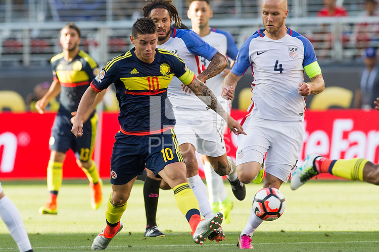 Santa Clara, California - Friday, June 3, 2016: Colombia beat USA 2-0 in the opening game of Copa America Centenario at Levi's Stadium.