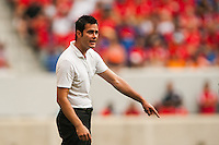 New York Red Bulls head coach Mike Petke. The New York Red Bulls defeated the Houston Dynamo 2-0 during a Major League Soccer (MLS) match at Red Bull Arena in Harrison, NJ, on June 30, 2013.