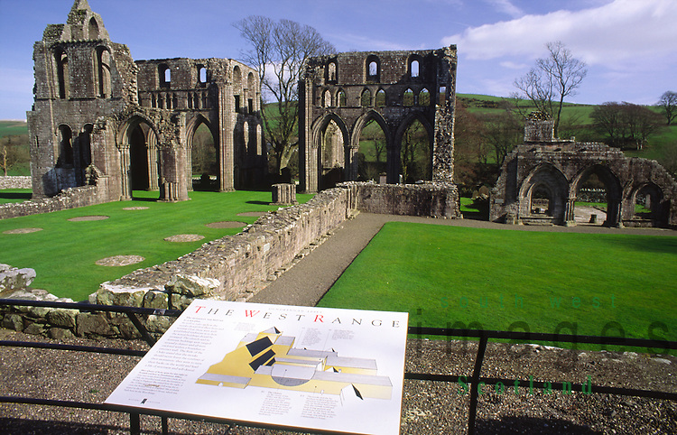 Dundrennan Abbey near Kirkcudbright a Cistercian abbey founded in 1142 where Mary Queen of Scots is said to have spent her last night on Scottish soil cared for by Historic Scotland Dumfries and Galloway Scotland UK