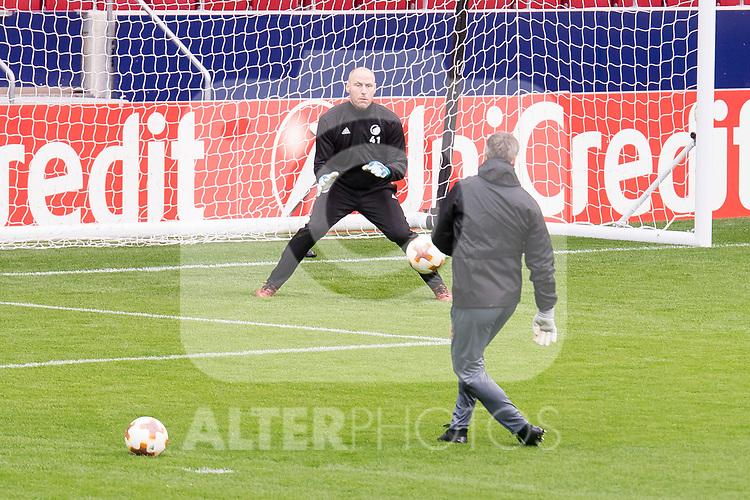 Kim Christensen during FC Copenhague training session day before Europa League match between Atletico de Madrid and FC Copenhague at Wanda Metropolitano in Madrid , Spain. February 21, 2018. (ALTERPHOTOS/Borja B.Hojas)