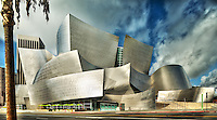 Walt Disney Concert Hall in Los Angeles California. Designed by architect Frank Gehry.