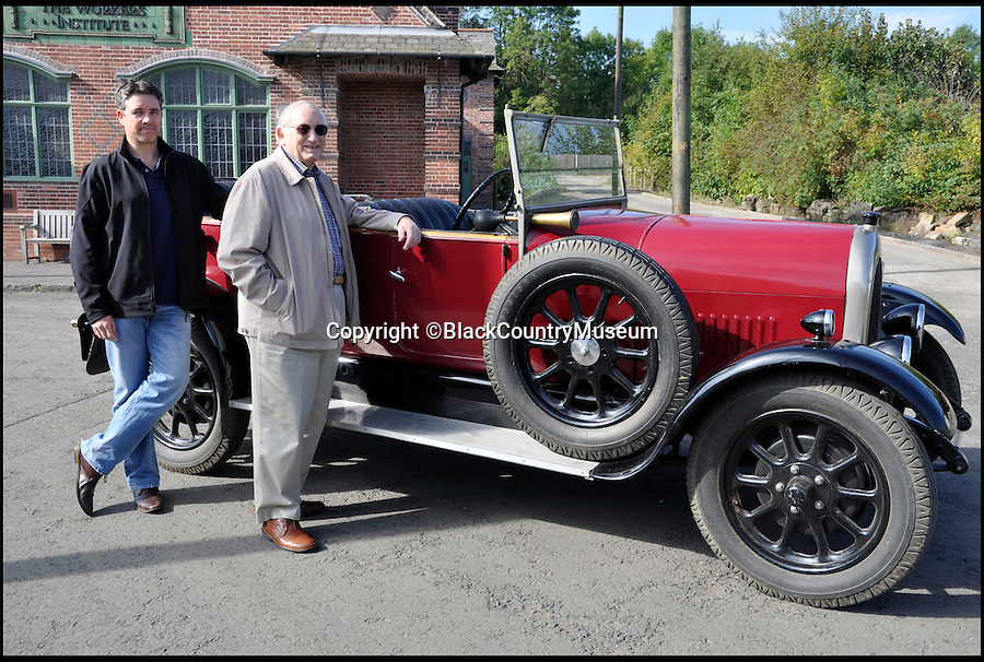 BNPS.co.uk (01202 558833)<br /> Pic: BlackCountryMuseum/BNPS<br /> <br /> ***Please Use Full Byline***<br /> <br /> Graeme French and son Timothy came all the way from Australia to take a spin in his Grandfather&rsquo;s 1925 &lsquo;Bean 14&rsquo; car after the family discovered it refurbished and on display at the Black Country Living Museum.<br /> <br /> <br /> Intrepid Graeme French has travelled 9,000 miles to drive his late grandfather's vintage car after finding it had been saved by a British museum.<br /> <br /> Graeme, 77, recalled sitting in the the 1925 Bean 14 motor with grandfather Thomas Woodall as a young boy.<br /> <br /> After Mr Woodall suffered from ill-health in the 1940s he put the red car in a garage he owned in Smethwick in Birmingham where it remained untouched for years.<br /> <br /> It was only when the lease on the garage expired and his widow was reminded of the car that it finally left the family.