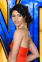 LONDON, ENGLAND - FEBRUARY 8: Vick Hope arrives at the 'Black Panther' European premiere at the Eventim Apollo, on February 8th, 2018 in London, England. <br /> CAP/JC<br /> &copy;JC/Capital Pictures