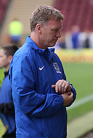 Everton Manager David Moyes in the Motherwell v Everton friendly match at Fir Park, Motherwell on 21.7.12 for Steven Hammell's Testimonial.