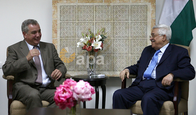 Palestinian President Mahmoud Abbas Receives the Greek Consul, in the West Bank City of  Ramallah.
