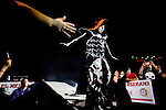 Lucha Libre AAA wrestlers La Parka, makes his entrance in Sacramento, CA March 28, 2009.