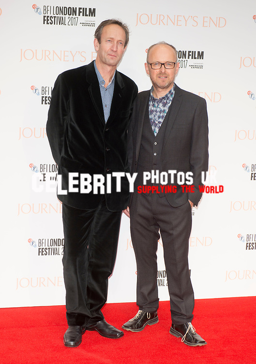 Guy de Beaujeu and Simon Reade at the 'Journey's End' film premiere, 61st BFI London Film Festival, UK  6th Oct 2017