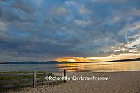 64795-00807 Sunset on South Bay, Lake Superior, Munising, Upper Peninsula, MI