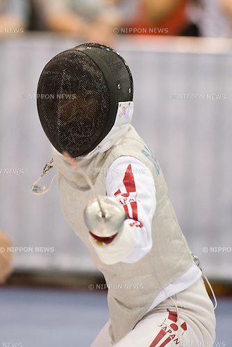 Iyo Matsumoto (JPN),<br /> AUGUST 5, 2013 - Fencing :<br /> World Fencing Championships Budapest 2013, Women's Individual Foil Qualifications at Syma Hall in Budapest, Hungary. (Photo by Enrico Calderoni/AFLO SPORT) [0391]