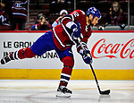 4 December 2008: Montreal Canadiens' left wing forward Steve Begin warms up prior to facing the New York Rangers for their first meeting of the season at the Bell Centre in Montreal, Quebec, Canada. The Canadiens, celebrating their 100th season, played in the circa 1915-1916 uniforms for the evenings' Original Six matchup. *****Editorial Use Only*****..Mandatory Photo Credit: Ed Wolfstein Photo