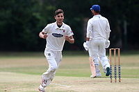 Z Khan of Hornchurch celebrates the wicket of F Butt during Upminster CC (batting) vs Hornchurch CC, Shepherd Neame Essex League Cricket at Upminster Park on 8th July 2017