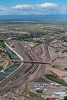 Train yard, Arkansas River, 4th Street, Pueblo, Colorado. Aug 23, 2014.  813091