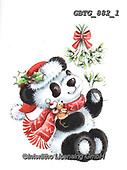 Theresa, CHRISTMAS ANIMALS, WEIHNACHTEN TIERE, NAVIDAD ANIMALES, paintings+++++,GBTG882/1,#xa# ,sticker,stickers ,panda,pandas