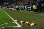 The corner flag broken by Cristiano Ronaldo of Juventus during the UEFA Champions League match at Juventus Stadium, Turin. Picture date: 26th November 2019. Picture credit should read: Jonathan Moscrop/Sportimage