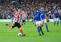 Lincoln City's Terry Hawkridge scores his sides second goal <br /> <br /> Photographer Andrew Vaughan/CameraSport<br /> <br /> Vanarama National League - Lincoln City v Macclesfield Town - Saturday 22nd April 2017 - Sincil Bank - Lincoln<br /> <br /> World Copyright &copy; 2017 CameraSport. All rights reserved. 43 Linden Ave. Countesthorpe. Leicester. England. LE8 5PG - Tel: +44 (0) 116 277 4147 - admin@camerasport.com - www.camerasport.com