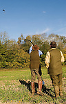 Game bird shoot St Claire's Estate, Hampshire. England. Jeremy Marsh
