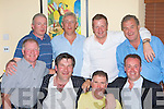 Brendan Lambkin, Dave McNally, Brian Smith, Burt Egan. Back row: Pa Fleming, Jim Casey, Greig Foley and John Butler at the St Finian's Golf dinner in Lord Kenmare's restaurant Killarney on Saturday night ..