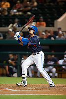 Dunedin Blue Jays second baseman Cavan Biggio (24) at bat during the Florida State League All-Star Game on June 17, 2017 at Joker Marchant Stadium in Lakeland, Florida.  FSL North All-Stars  defeated the FSL South All-Stars  5-2.  (Mike Janes/Four Seam Images)