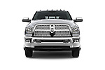 Car photography straight front view of a 2015 Ram 3500 Laramie 4 Door Van