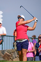 Sei Young Kim (KOR) watches her tee shot on 16 during Thursday's first round of the 72nd U.S. Women's Open Championship, at Trump National Golf Club, Bedminster, New Jersey. 7/13/2017.<br /> Picture: Golffile | Ken Murray<br /> <br /> <br /> All photo usage must carry mandatory copyright credit (&copy; Golffile | Ken Murray)