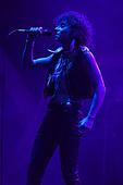 MIAMI FL - MAY 07: Josh Kiszka of Greta Van Fleet performs at Bayfront Park Amphitheater on May 7, 2019 in Miami, Florida. Photo by Larry Marano © 2019
