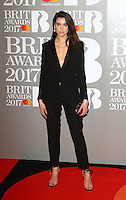 Dua Lipa at The BRIT Awards 2017 at The O2, Peninsula Square, London on February 22nd 2017<br /> CAP/ROS<br /> &copy; Steve Ross/Capital Pictures /MediaPunch ***NORTH AND SOUTH AMERICAS ONLY***