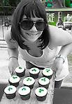 Sweet. Shamrock cupcakes.