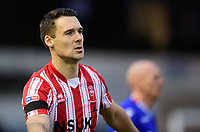 Lincoln City's Jason Shackell wearing a black armband worn by Lincoln City players as a mark of respect to Grace Millane, a former University of Lincoln pupil<br /> <br /> Photographer Chris Vaughan/CameraSport<br /> <br /> The EFL Sky Bet League Two - Saturday 15th December 2018 - Lincoln City v Morecambe - Sincil Bank - Lincoln<br /> <br /> World Copyright © 2018 CameraSport. All rights reserved. 43 Linden Ave. Countesthorpe. Leicester. England. LE8 5PG - Tel: +44 (0) 116 277 4147 - admin@camerasport.com - www.camerasport.com