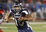 University of Nevada, Reno quarterback Colin Kaepernick runs in the fourth quarter of Thursday's NCAA college football game, Sept. 2, 2010, in Reno, Nev..Photo by Cathleen Allison